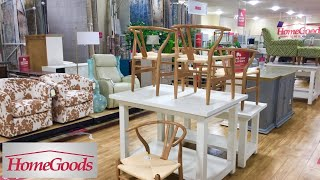 HOMEGOODS (4 DIFFERENT STORES) FURNITURE ARMCHAIRS TABLES SHOP WITH ME SHOPPING STORE WALK THROUGH