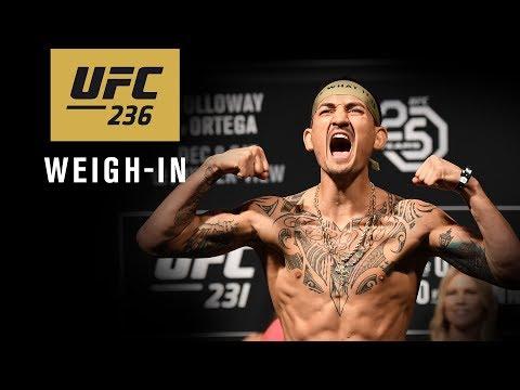 La pesée de l'UFC 236