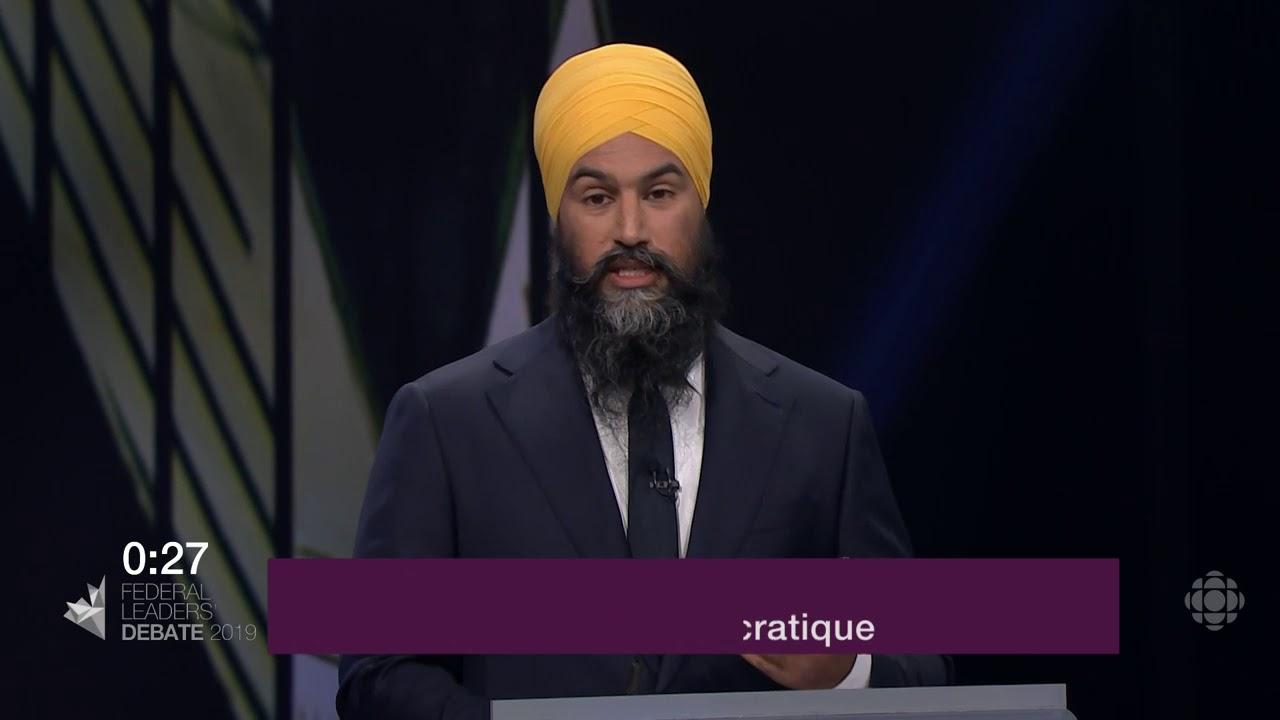 Jagmeet Singh répond à la question d'un citoyen sur le Canada dans le monde
