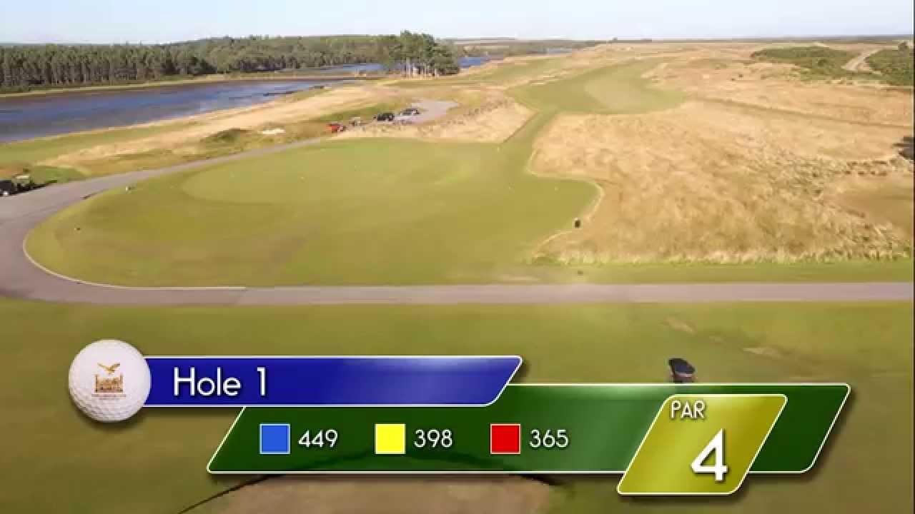Carnegie Links Hole 1 - YouTube video