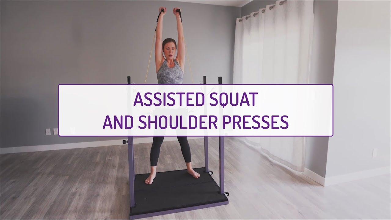 Assisted Squats and Shoulder Presses