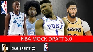 2019 NBA Mock Draft Following The Anthony Davis Trade | 1st Round Picks V3.0