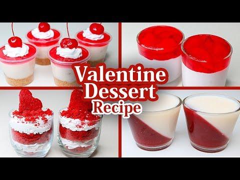 4 Easy Dessert Recipe | Valentine Special Dessert Recipe | Easy Dessert Recipe | Yummy Dessert
