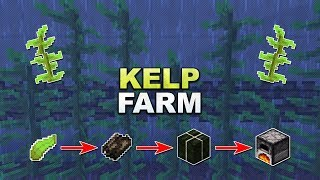 Minecraft - Kelp Farm // Seetang Farm - Tutorial 1.17