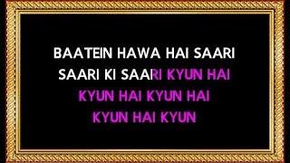 Baatein Hawa Hain - Karaoke - Cheeni Kum   - YouTube