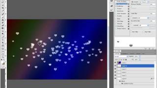 Heart Shaped Bokeh Wallpaper in Photoshop CS5 - Bokeh Brush Download