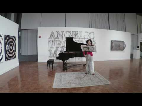 "Live world premiere performance of ""After Death"" - a piece written for me by Karl Kramer to text of Christina Rossetti"