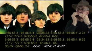 nº 633  No Reply ( The Beatles ) tabl.arm.cromat.( C ) mundharmonika