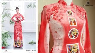 Áo dài hoa xuân 2021 | Áo Dài Đỗ Trịnh Hoài Nam