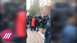 Жесткие задержания в Красноярске на акции «Он нам не царь»
