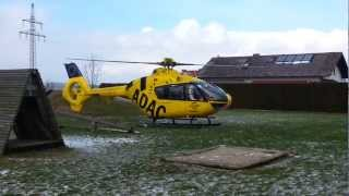 preview picture of video 'ADAC Helikopter startet vor meiner Haustür'