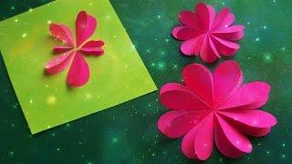 Как Быстро Вырезать Сердечки Из Бумаги. Цветы, Бабочки на Открытки 8 Марта, День Рождения