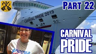 Carnival Pride Cruise Vlog 2019 - Part 22: Sea Day, Storm, Delays, Groove, VIFP, Booty - ParoDeeJay