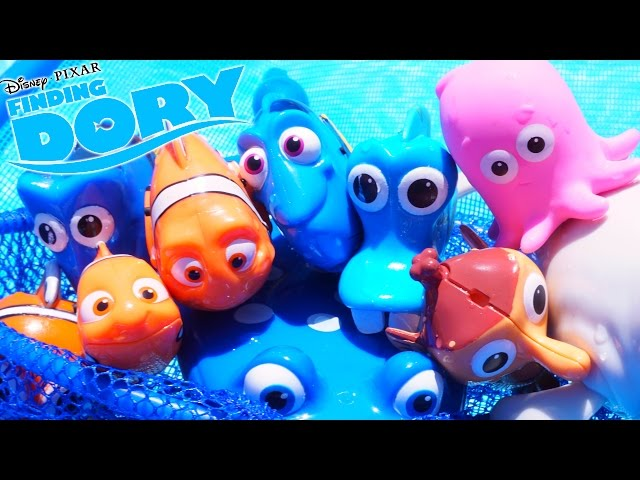 FINDING DORY SWIMMING FISH TOYS IN THE POOL OR TUB NEMO MARLIN MR RAY DISNEY PIXAR