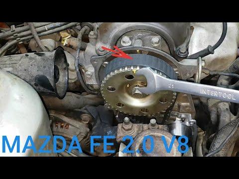 Фото к видео: Mazda 626 FE 2.0 FS valve 8 замена помпы грм