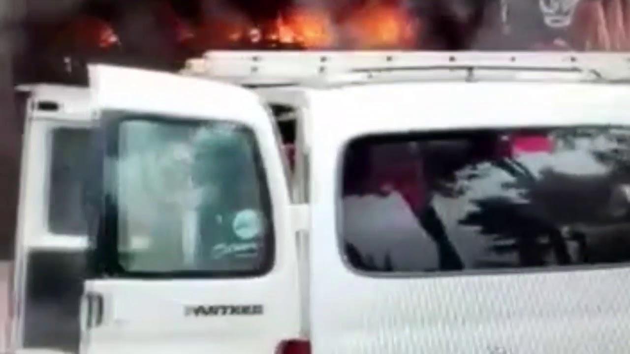 Bafra'da İş Hanında Yangın