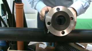 Фланцевое соединение полиэтиленовых труб со стальными