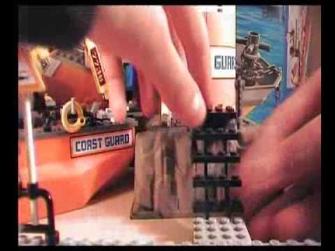 Lego city coast guard patrol boat + tower 7739