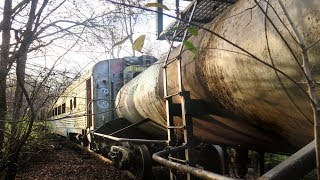 Abandoned Train Found Deep In The Woods