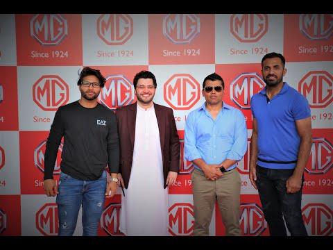 Zalmi Stars at MG Motors Launch | Kamran Akmal, Wahab Riaz, Imam Ul Haq, Muhammad Akram