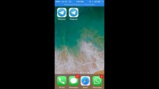 How to install 2 telegram apps on iphone without jailbreak..|| latest 2018