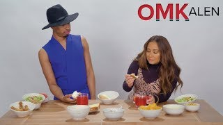 OMKalen: Kalen and 'The Real' Host Adrienne Houghton Dunk Burgers & Bagels in Fruit Punch for Brunch