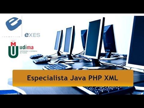 Curso Especialista en Java, PHP y XML de Curso Especialista en Java, PHP y XML - Título Propio UDIMA en Exes Formación