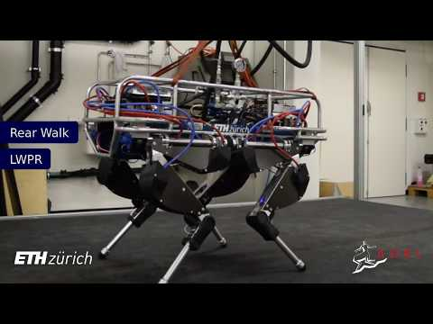 Contact Invariant Model Learning for Legged Robot Locomotion