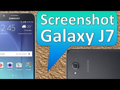 Samsung Galaxy J7 Screenshot o Captura de Pantalla