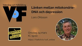 Lars Ohlsson – Länken mellan mitokondrie-DNA och depression
