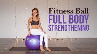 How To Use An Exercise Ball For Full Body Strengthening (Full Class)
