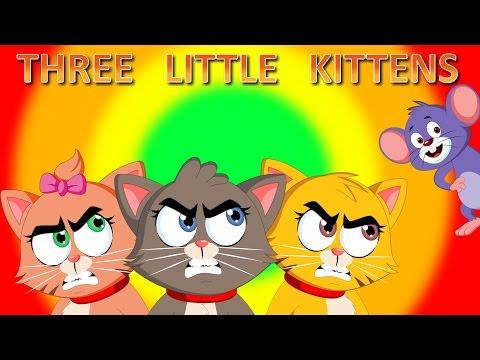 Three Little Kittens | Children Songs with Lyrics | Lost Their Mittens | FlickBox Nursery Rhyme