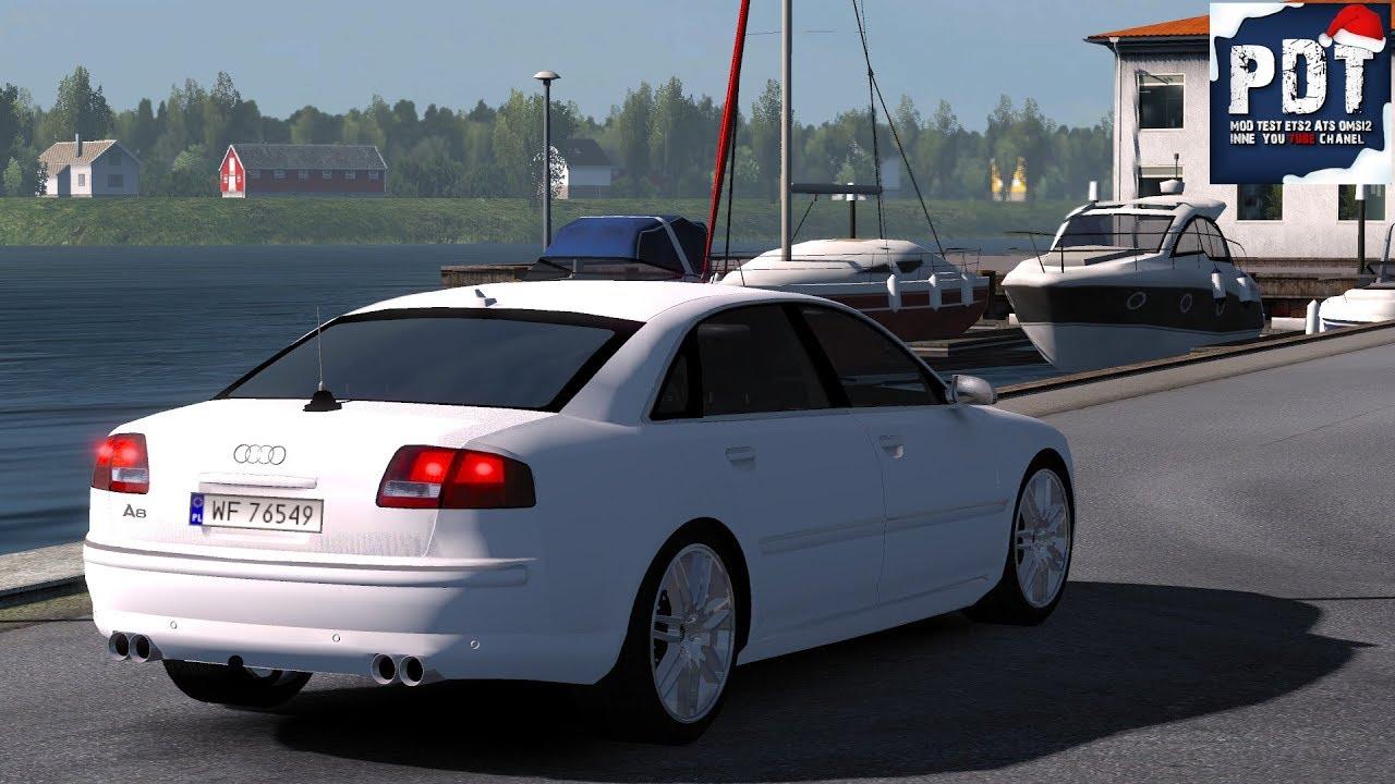 Audi A8 By Diablo 1 33 mod for ETS 2