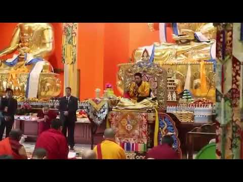 Tenshug for H.H. Trijang Chocktrul Rinpoche at Gaden Khachoe Shing