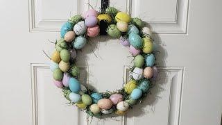 #easterwreath #dollartree #diywreath  DIY Easter  Egg Wreath