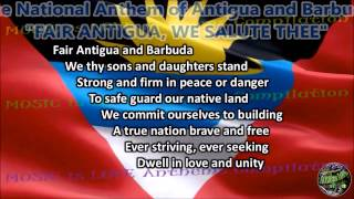 Antigua and Barbuda National Anthem FAIR ANTIGUA, WE SALUTE THEE with music, vocal and lyrics