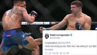 Twitter reactions from MMA Fighters to Al Iaquinta's thrilling victory over Kevin Lee in 2nd fight