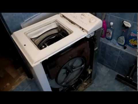 Снятие крышки стиральной машинки Zanussi