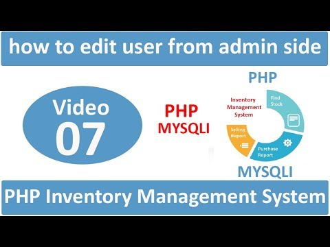 how to edit user from admin side in php ims