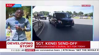 Developing: Sgt. Kipyegon Kenei\'s body arrives at his Chemasis home for burial