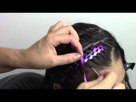 Peinado facil con cinta para niña!!
