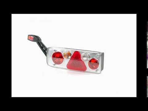 Задний комбинированный фонарь с резиновым рогом. Left