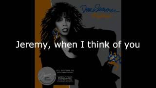 """Donna Summer - Jeremy LYRICS SHM """"All Systems Go"""" 1987"""
