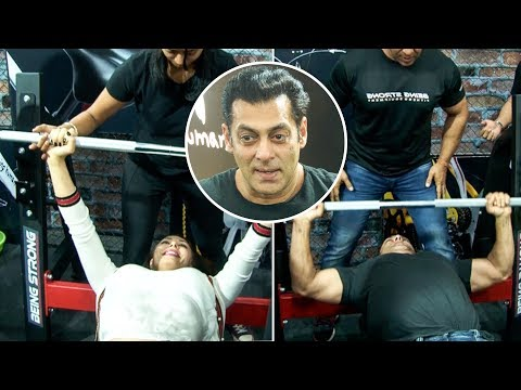 Salman Khan Takes The FITNESS CHALLENGE With Girlf