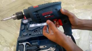 How to  use  drill machine || Bosch GSB RE kit -GUIDE