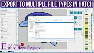 How To Save Files To Multiple Formats - Hatch Embroidery Software Tutorial