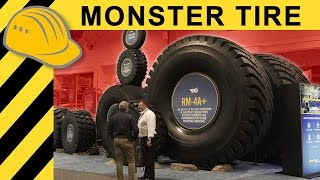 BIGGEST TIRE IN THE WORLD - $50,000 EXTREME MINING Tire Explained at MINExpo   4K