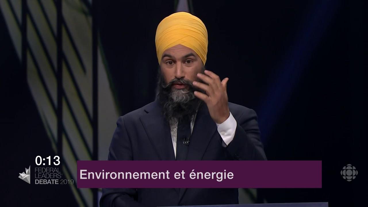 Jagmeet Singh répond à une question d'un citoyen sur le changement climatique