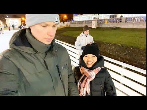 Каток в парке Горького перед Новым Годом