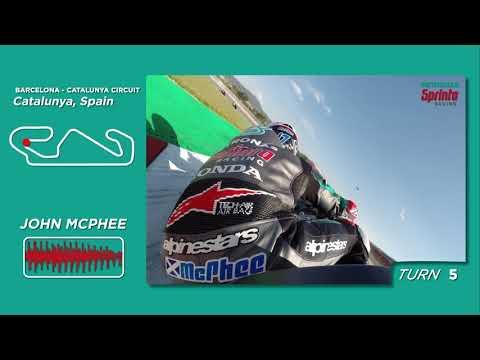 One lap to the Barcelona-Catalunya Circuit with John McPhee